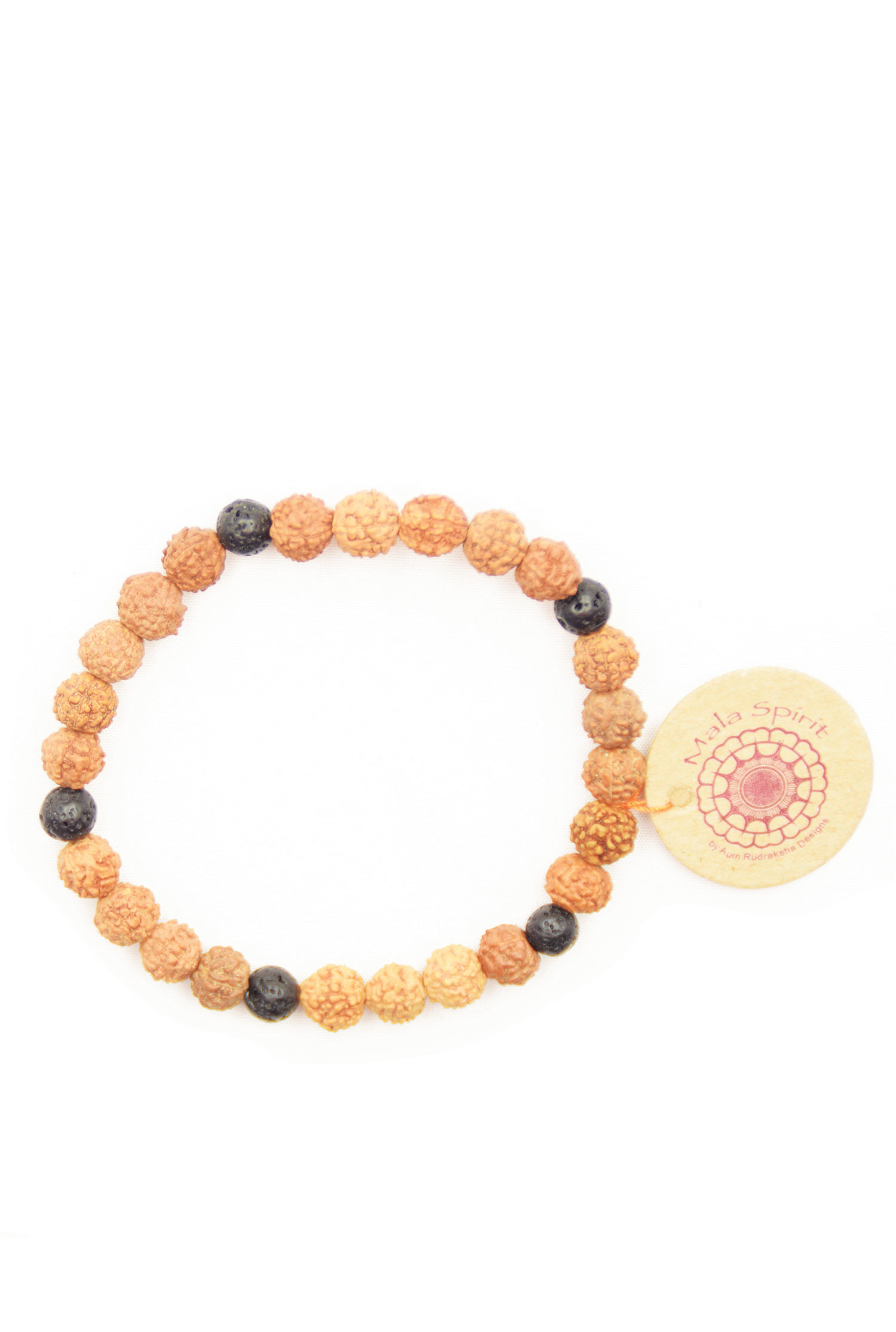inner strength mala bracelet with rudraksha and lava mala